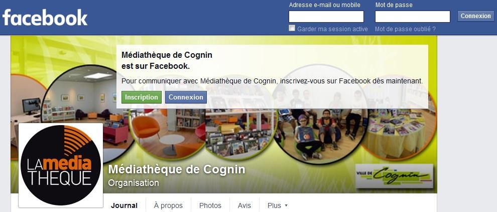 Facebook Médiathèque